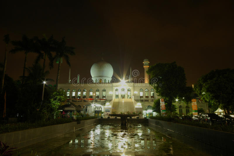 Moschea di Al-Azhar a Jakarta fotografia stock libera da diritti