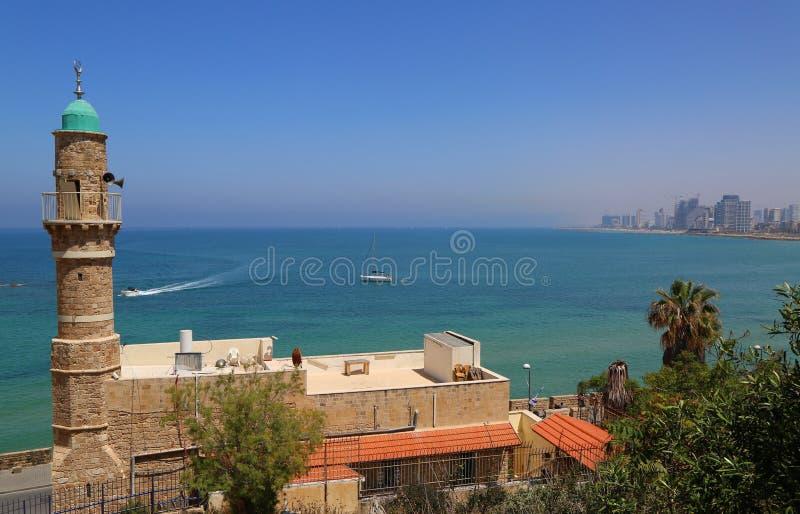 Moschea di Al-Bahr o moschea del mare in vecchia città di Giaffa, Israele immagini stock