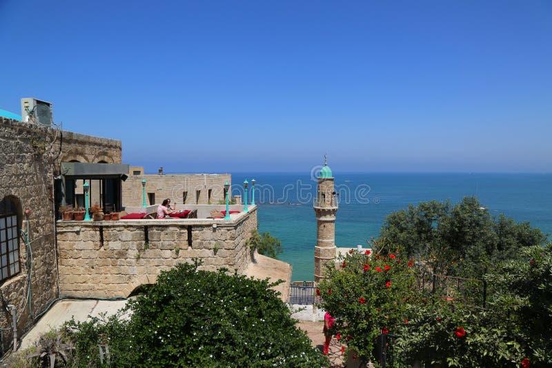 Moschea di Al-Bahr o moschea del mare in vecchia città di Giaffa, Israele immagine stock libera da diritti