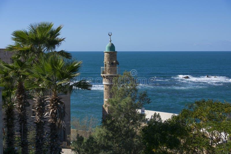 Moschea di Al-Bahr in vecchia città di Giaffa, Tel Aviv, Israele fotografie stock