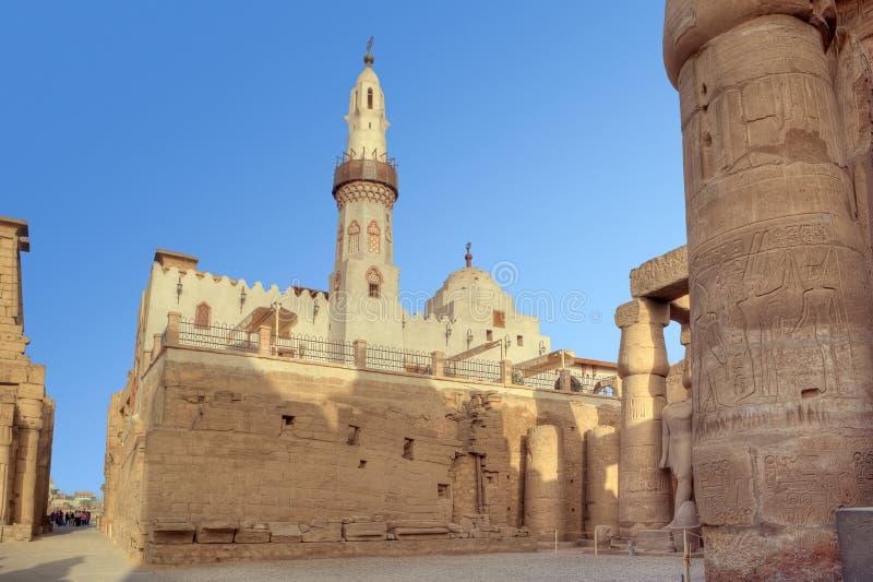 Moschea di Al-Haggag di Abu in tempiale di Luxor fotografia stock libera da diritti