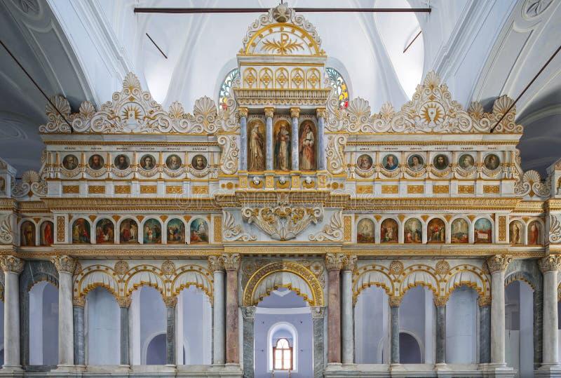 Moschea di Alaçatı convertita dalla chiesa greco ortodossa fotografia stock