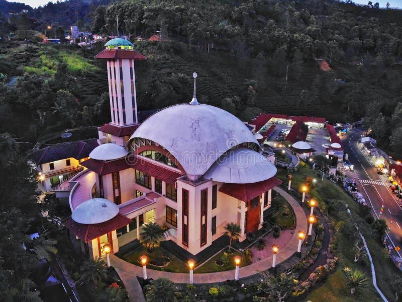 Moschea di Attaa'wun a Java - l'Indonesia ad ovest fotografia stock libera da diritti