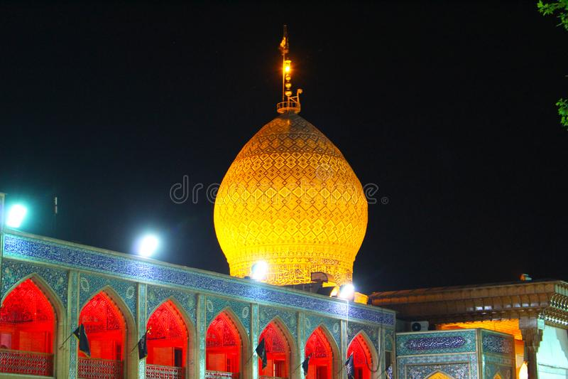 Moschea di Ceragh dello scià, Shiraz, Iran fotografie stock libere da diritti