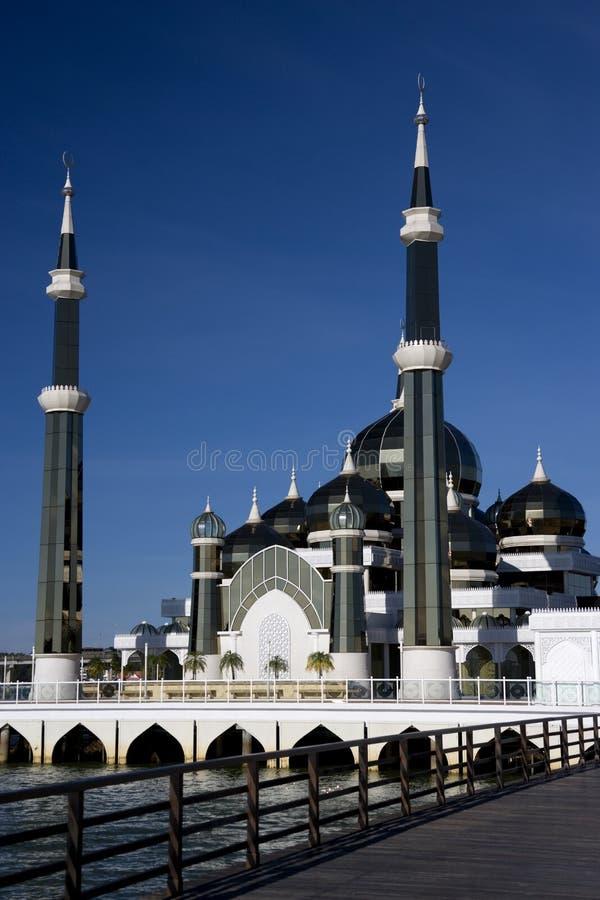 Moschea di cristallo immagine stock