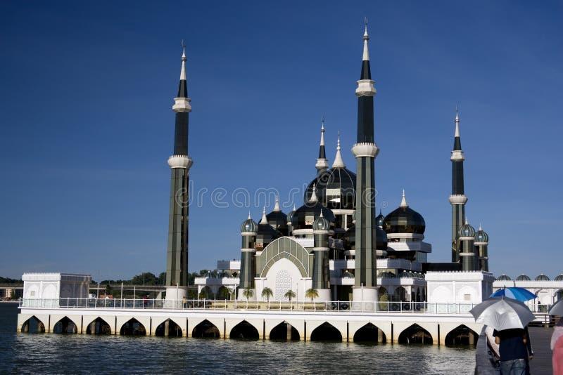 Moschea di cristallo in Malesia immagine stock