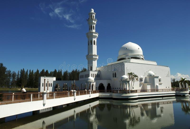 Moschea di galleggiamento di Terengganu, Malesia fotografia stock