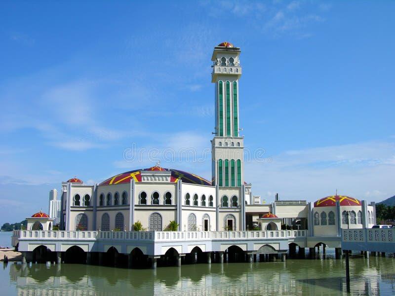 Moschea di galleggiamento, Penang, Malesia immagine stock libera da diritti
