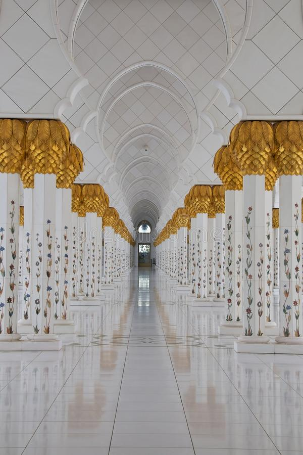 Moschea di gran dell'Abu Dhabi fotografia stock libera da diritti