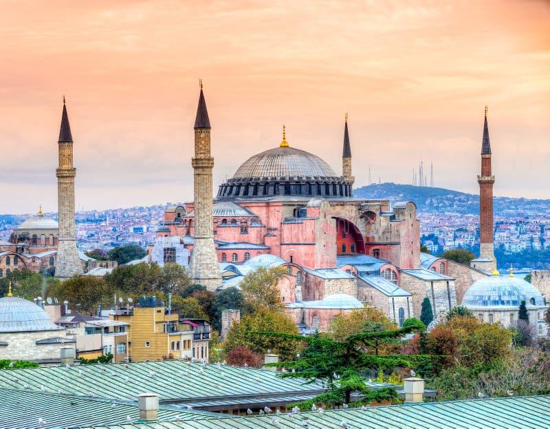 Moschea di Hagia Sophia, Costantinopoli, Turchia fotografie stock libere da diritti