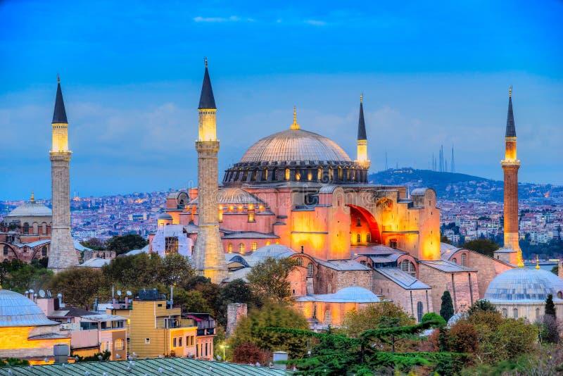 Moschea di Hagia Sophia, Costantinopoli, Turchia immagini stock