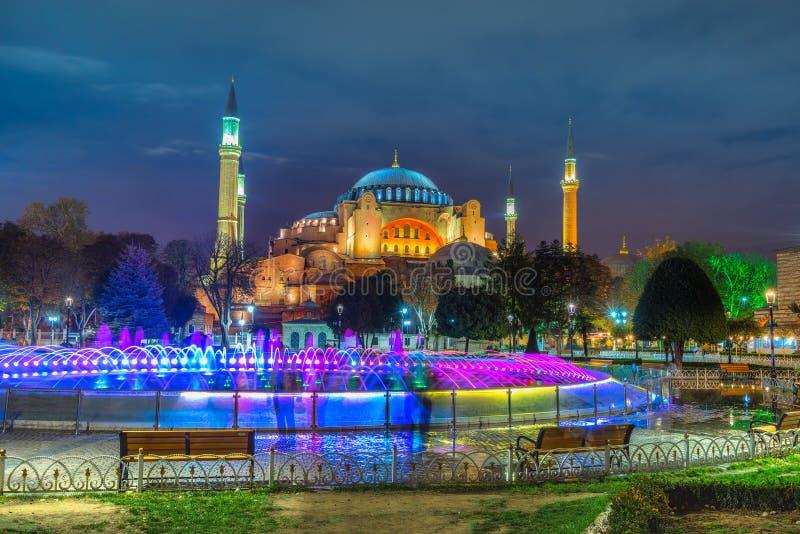 Moschea di Hagia Sophia, Costantinopoli, Turchia fotografia stock libera da diritti
