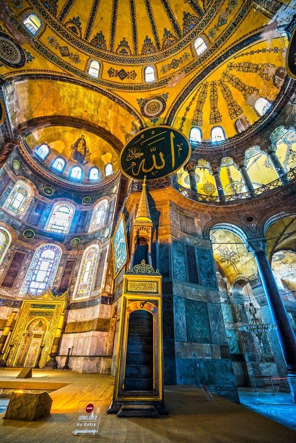 Moschea di Hagia Sophia, Costantinopoli, Turchia fotografia stock