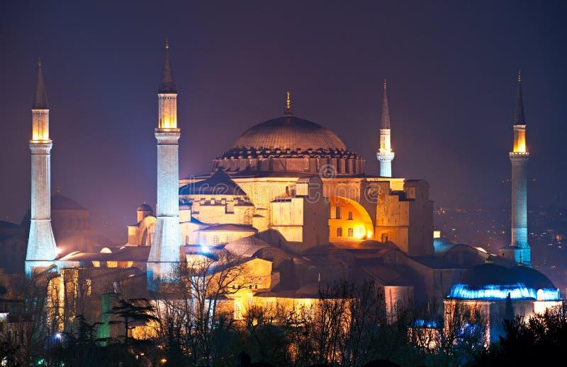 Moschea di Hagia Sophia, Costantinopoli, Turchia. immagine stock