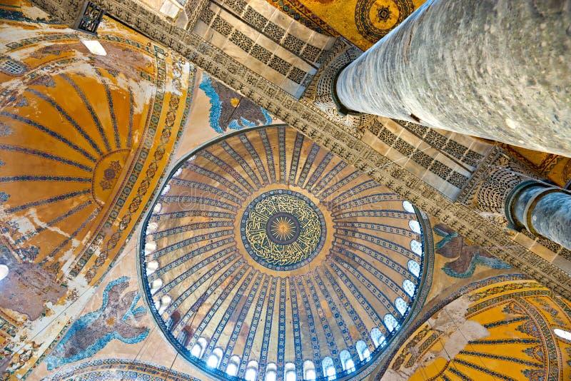 Moschea di Hagia Sophia, Costantinopoli, Turchia. immagini stock libere da diritti