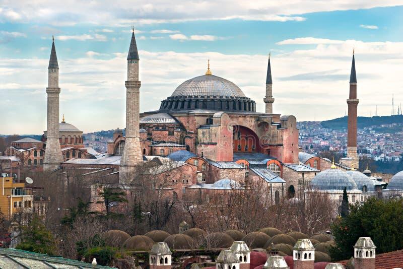 Moschea di Hagia Sophia, Costantinopoli, Turchia. fotografia stock libera da diritti