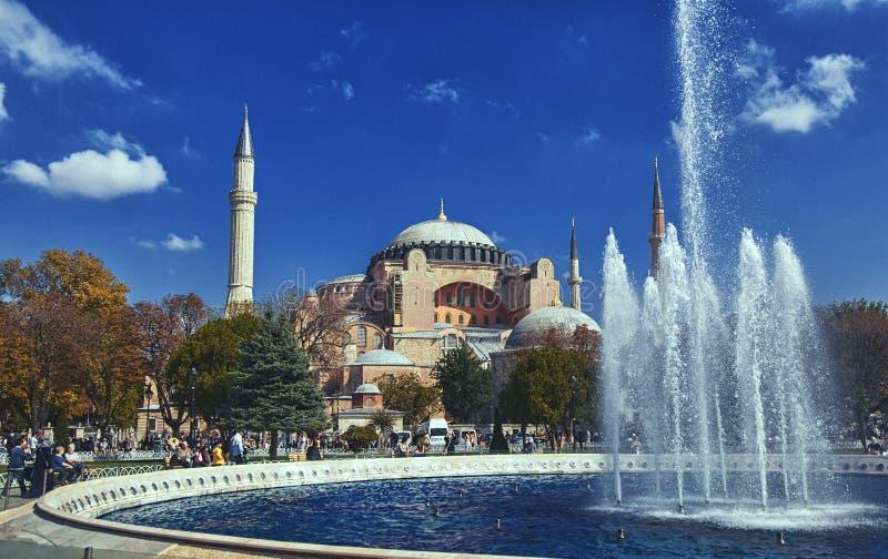 Moschea di Hagia Sophia a Costantinopoli, Turchia fotografia stock libera da diritti