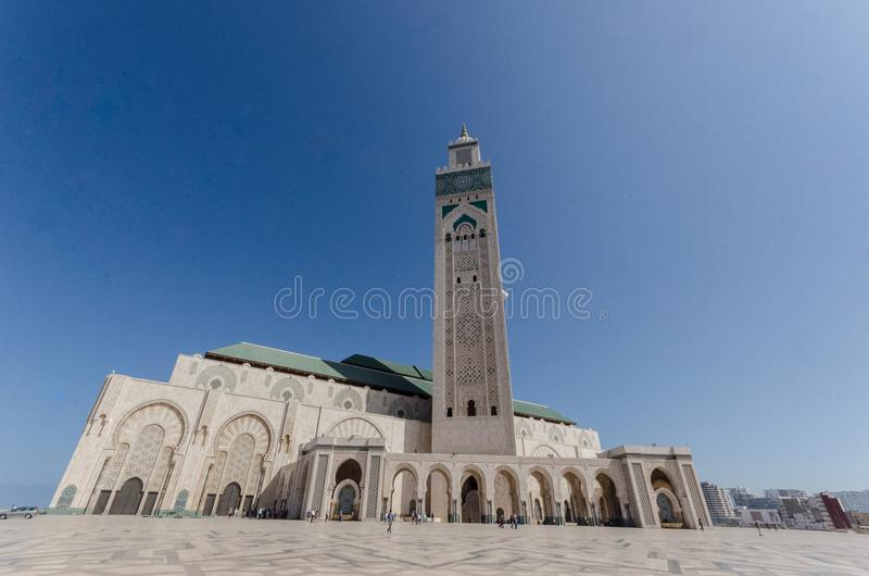Moschea di Hassan II, Casablanca fotografia stock libera da diritti