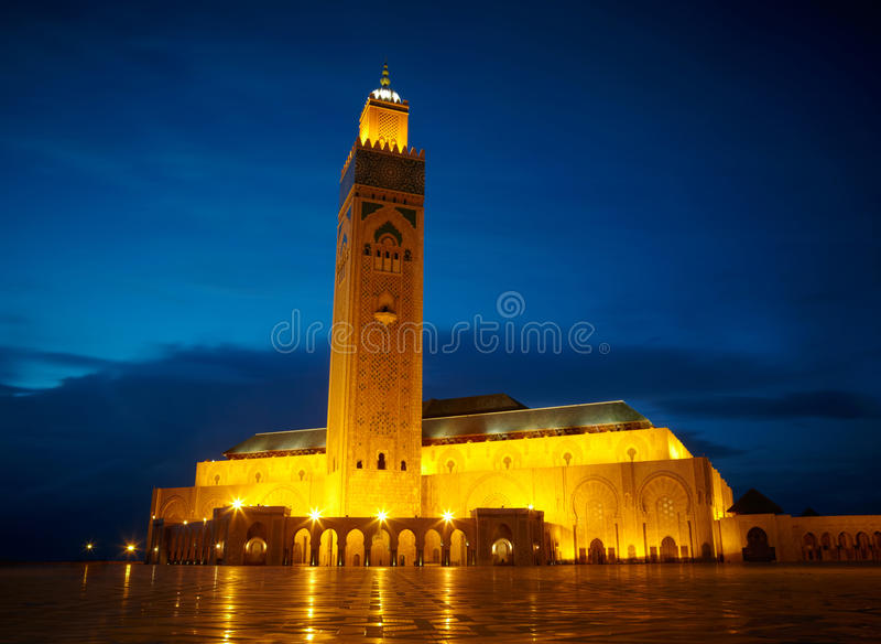 Moschea di Hassan II a Casablanca, Marocco Africa immagini stock