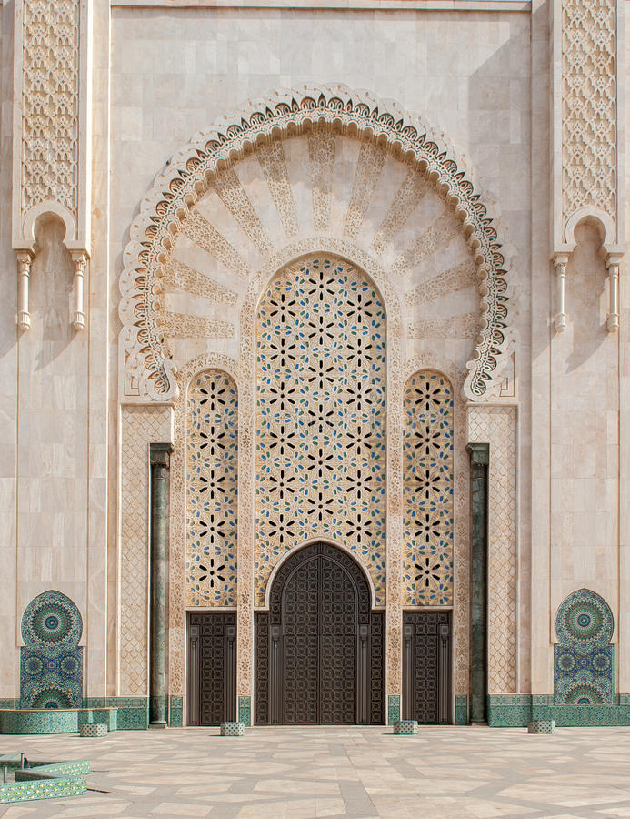 Moschea di Hassan II, Casablanca morocco immagine stock