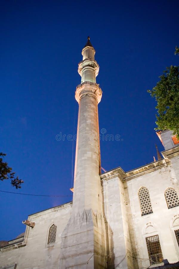 Moschea di islam di notte fotografia stock