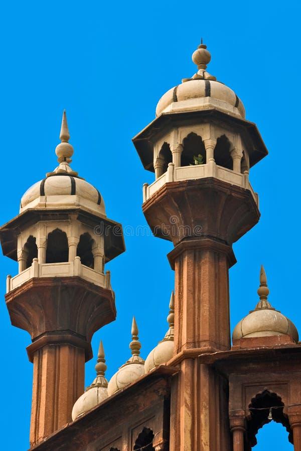 Moschea di Jama Masjid, vecchia Delhi, India. fotografia stock libera da diritti