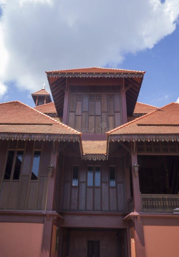 Moschea di legno tradizionale (masjid) in Malesia fotografie stock libere da diritti