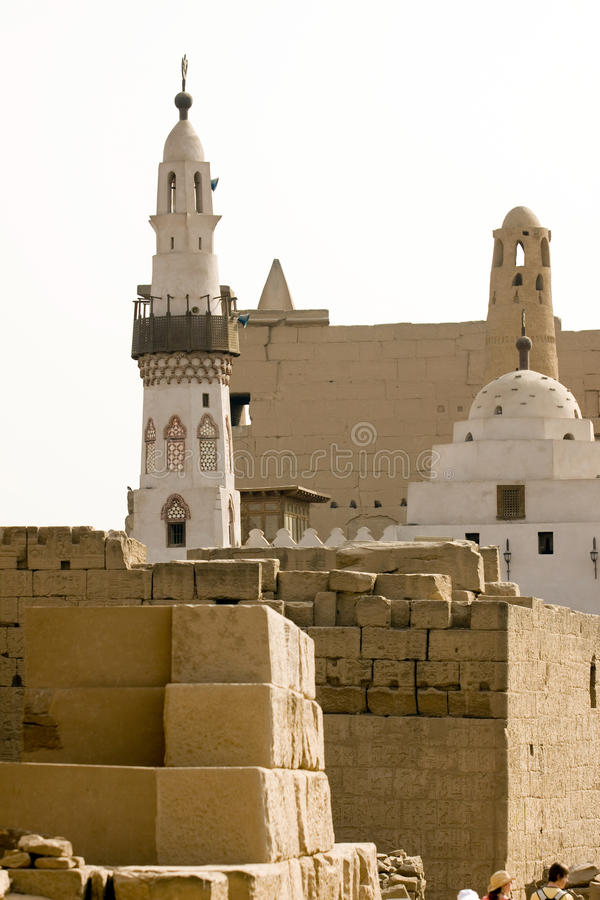 Moschea di Luxor fotografia stock libera da diritti