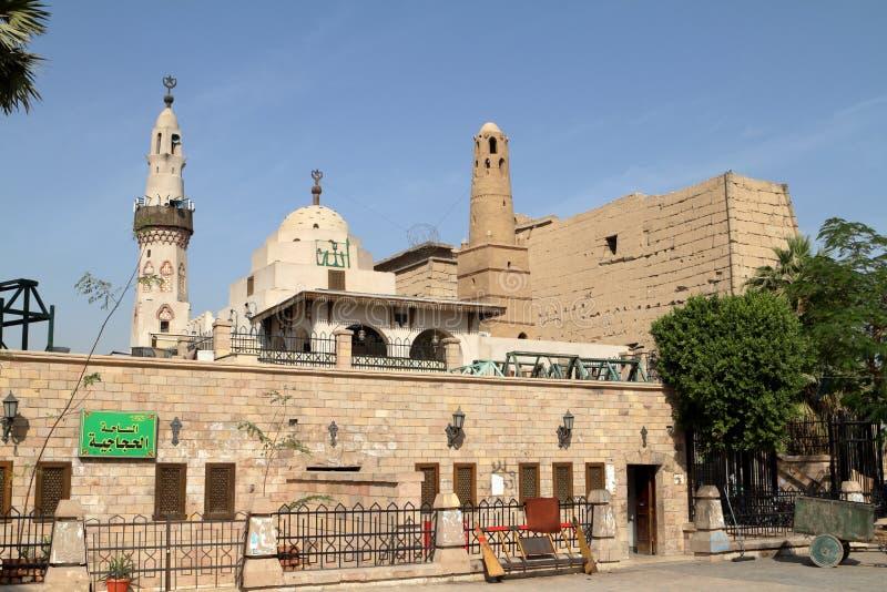 Moschea di Luxor nell'Egitto fotografie stock libere da diritti