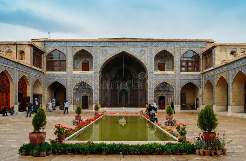 Moschea di Molk del ol di Nasir a Shiraz, Iran È conosciuto nel persiano come ol Molk di Masjed-e Naseer immagini stock libere da diritti