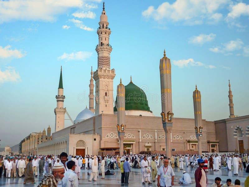 Moschea di Nabawi, Medina, Arabia Saudita fotografie stock libere da diritti