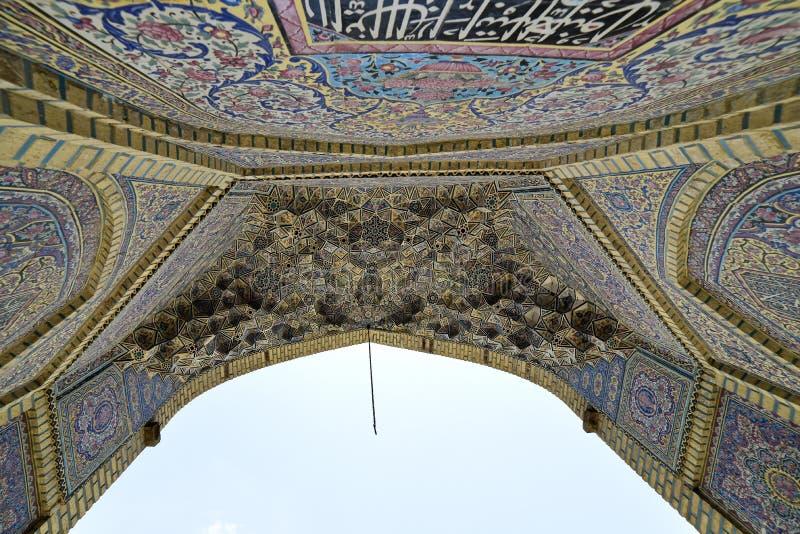 Moschea di Nasir-ol-molk o moschea rosa, Shiraz, provincia di Fars, Iran, il 24 giugno 2019 fotografia stock