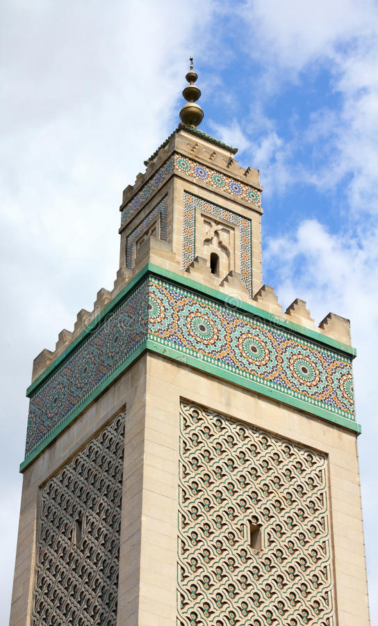 Moschea di Parigi immagine stock