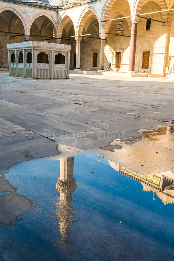 Moschea di Süleymaniye, Costantinopoli fotografie stock