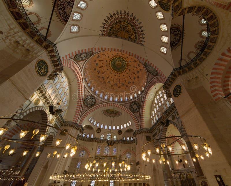 Moschea di Suleymanie fotografia stock