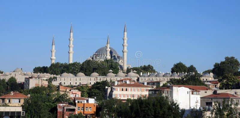 Moschea di Suleymaniye a Costantinopoli. fotografie stock libere da diritti