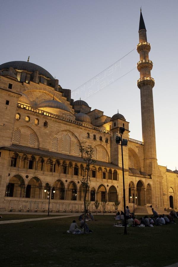 Moschea di Suleymaniye a Costantinopoli fotografia stock libera da diritti