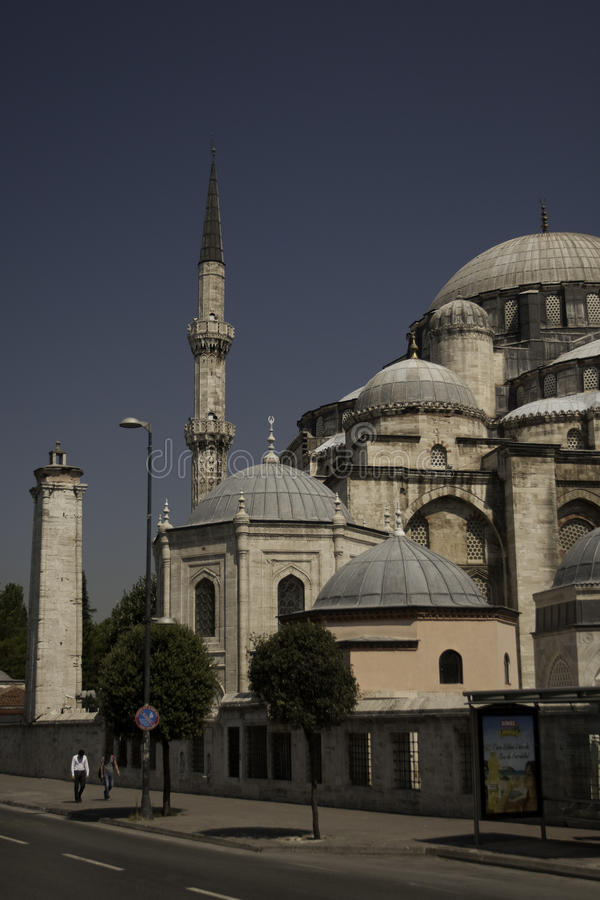Moschea di Suleymaniye a Costantinopoli immagine stock libera da diritti
