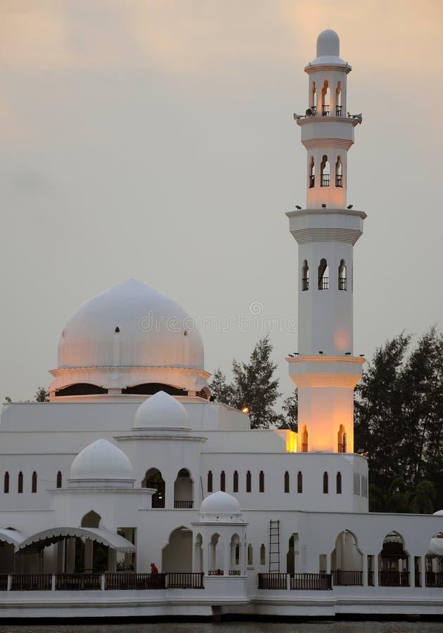 Moschea di Tengku Tengah Zaharah in Terengganu fotografie stock libere da diritti