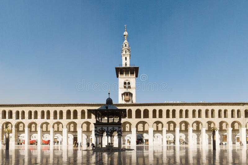 Moschea di Umayyad a Damasco immagini stock