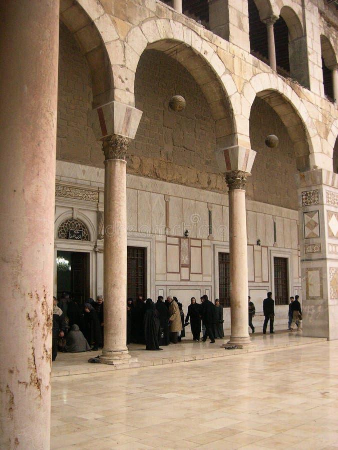 Moschea di Umayyad a Damasco, Siria immagini stock libere da diritti