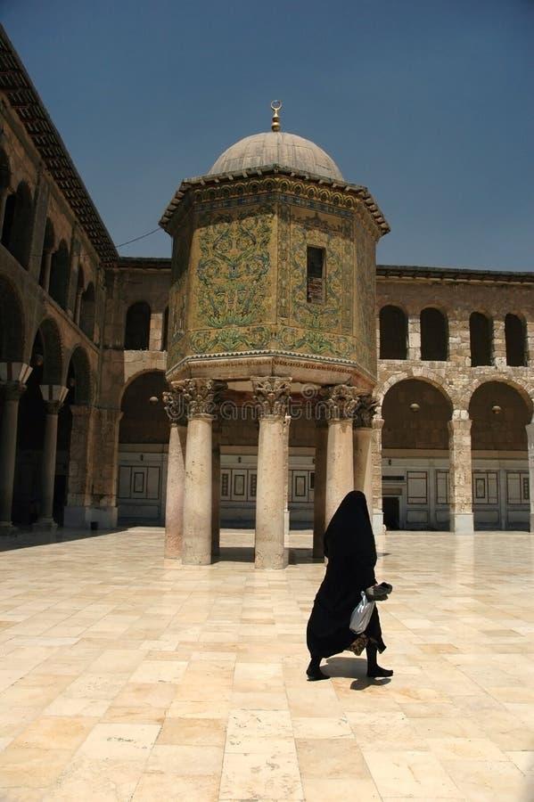 Moschea di Umayyad in Siria fotografia stock