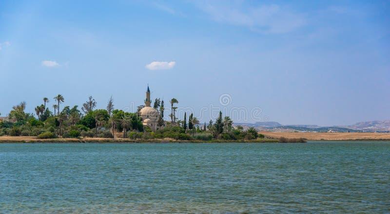 Moschea di Umm Haram, Larnaca, Cipro fotografie stock libere da diritti