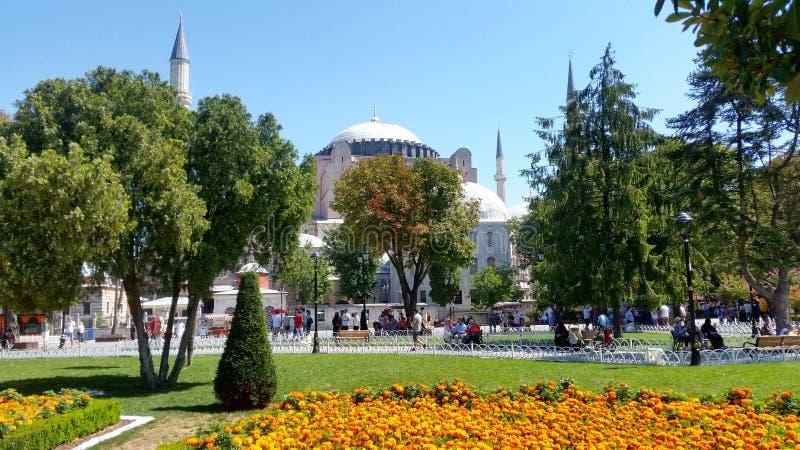 Moschea e chiesa del museo di Hagia Sofia prima, Costantinopoli immagine stock