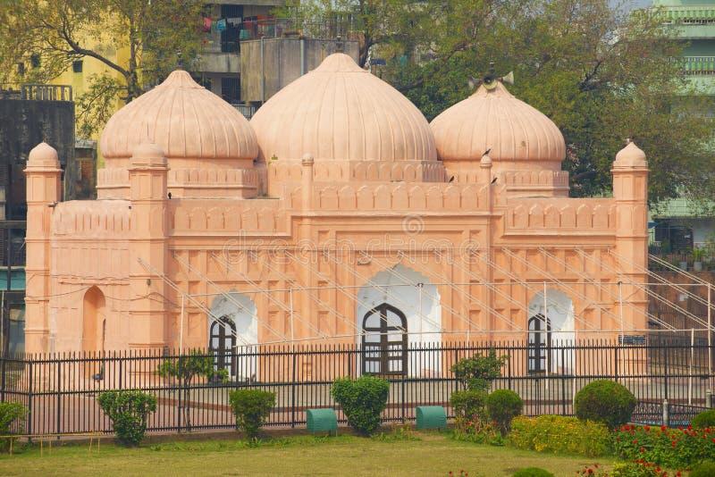 Moschea forte di Lalbagh, Dacca, Bangladesh fotografia stock libera da diritti