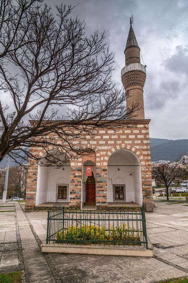 Moschea Hatice Isfendiyar a Bursa, Turchia fotografia stock