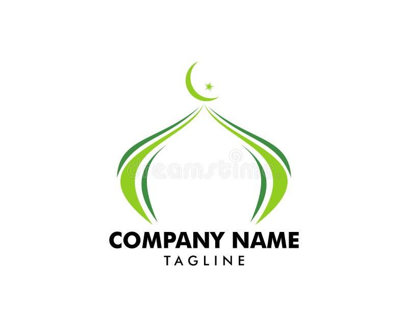 Moschea Logo Template Design Vector royalty illustrazione gratis