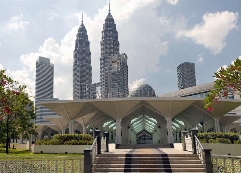 Moschea musulmana del asy-Syakirin di Masjid a Kuala Lumpur fotografia stock libera da diritti