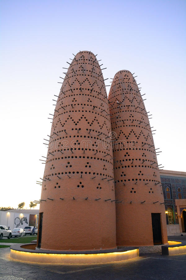 Moschea nel villaggio di Katara, Doha, Qatar immagine stock