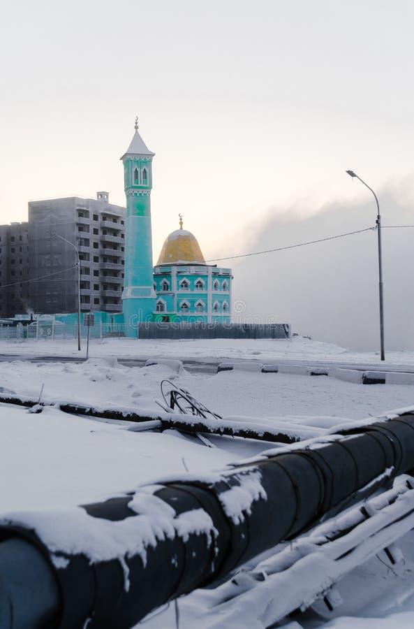 Moschea in Noril'sk, Russia immagine stock libera da diritti